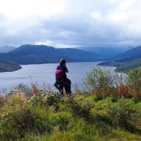 Day Walking Tour Hiking above Loch Katrine